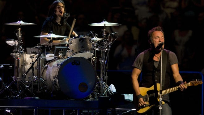 Jay Weinberg drums for Bruce Springsteen and the E Street Band at the  Izod Center in East Rutherford on May 21, 2009.