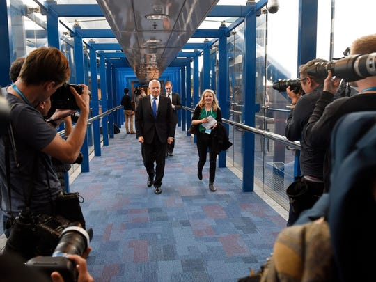 Iain Duncan Smith arrives to the Conservative Party Conference 2016 in Birmingham, Britain.