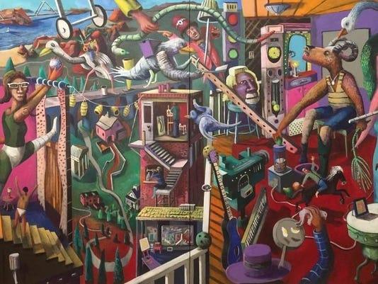 Leif Larson mural