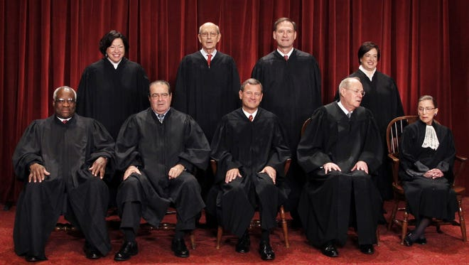 The Supreme Court justices in 2010.