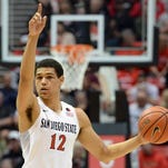 Guard Trey Kell and his San Diego State teamamtes are the No. 1 seed and the team to beat in this week's Mountain West men's basketball tournament in Las Vegas.