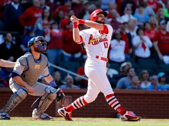 St. Louis Cardinals' Matt Carpenter, right, and Toronto