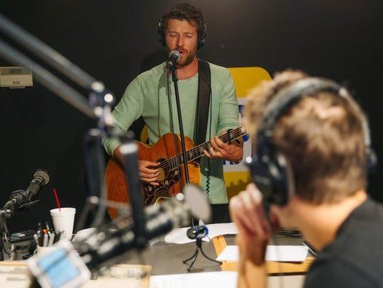 "Brett Eldredge performs during Joy Week on ""The Bobby"