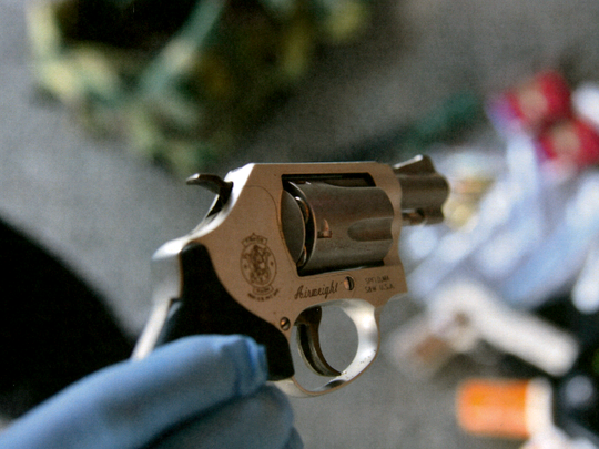 Renee Henry kept this .38-caliber revolver between the driver's seat and middle console of the SUV, according to a stipulation at Paul Henry III's double-murder trial. She routinely kept her vehicle unlocked, the stipulation states, while it was parked in the garage. Paul Henry testified that he took the weapon from the SUV.
