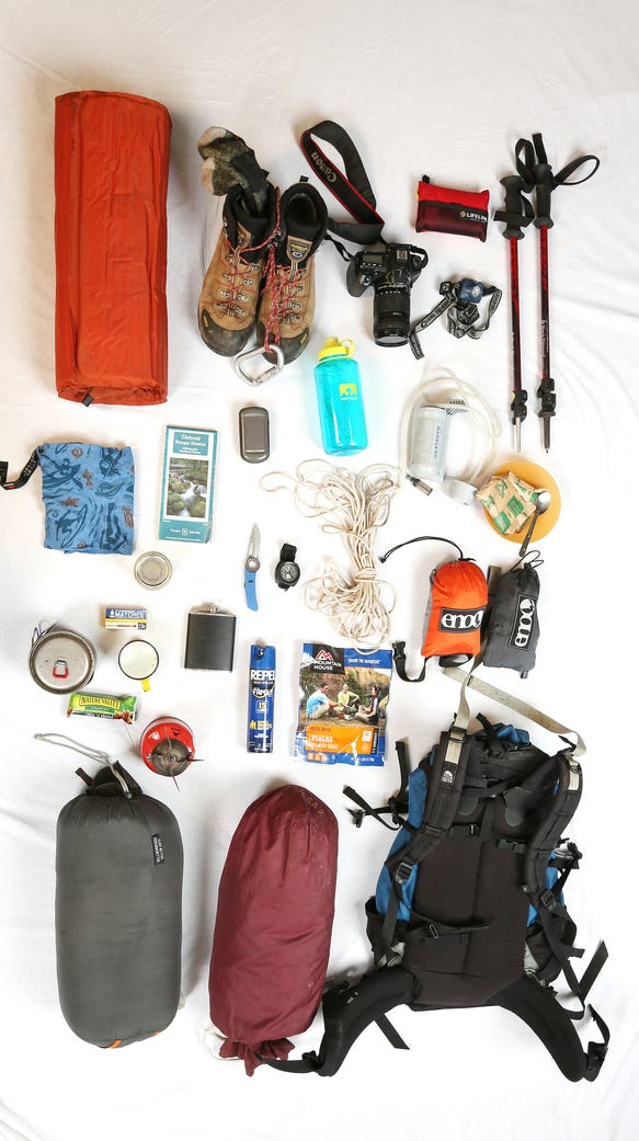 Zach's backpacking gear includes all the necessities