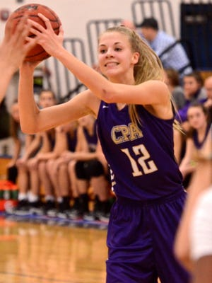 CPA's Carrington Washburn looks for a passing lane during Monday's win against Giles County.
