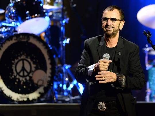 Ringo Starr performs with Ringo Starr & His All-Starr Band at The Pearl theater at the Palms Casino Resort on Nov. 22, 2013 in Las Vegas.