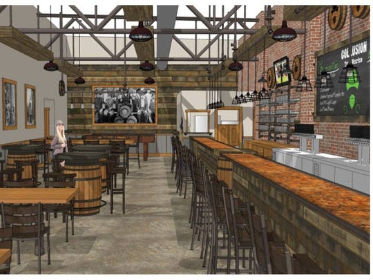 This image shows what Collusion Tap Works will look like when the brewery opens in Royal Square this summer.