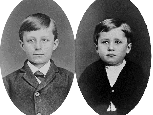 Wilbur and Orville Wright as children