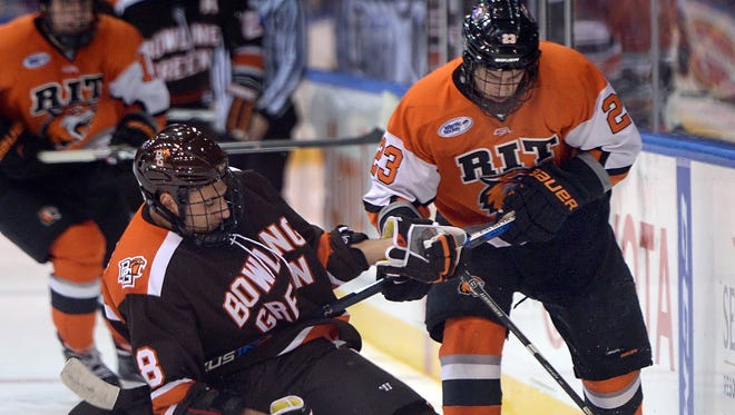Webster's Dan Schuler has produced 2 goals, 4 assists and 6 points in 14 games this season for RIT.