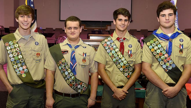Opelousas gets four new Eagle Scouts: Charles Cober, Adam Dakin, Michael Moreau and Trey Michael Reed.