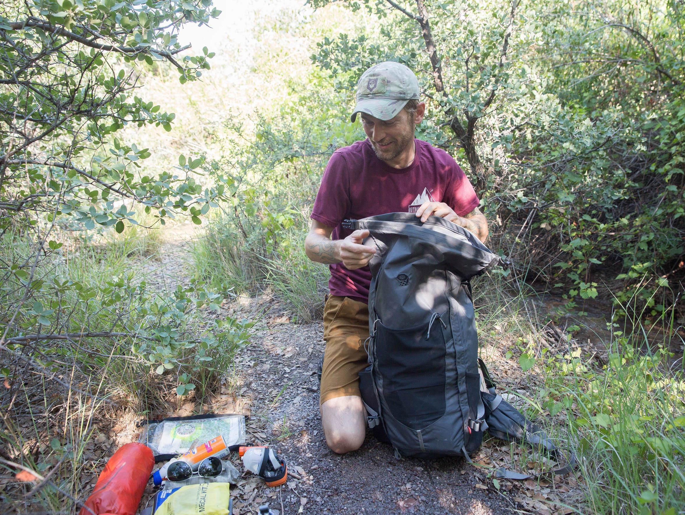 Anthony McGlone, who teaches a backpacking course at