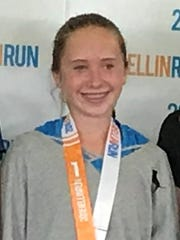 Ryann Wagner of Suring placed first among females, age 13-14, at the Bellin Run in Green Bay on June 9.