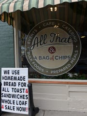 All That & A Bag Of Chips, which opened in 2015, announced on Facebook that it was closing, effective March 19, 2019, but will continue to run its catering service from the downtown Lebanon location.