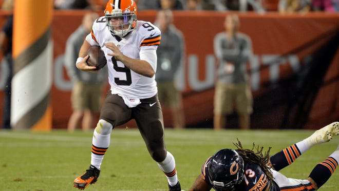 Former South Carolina standout Connor Shaw could get the start for the Cleveland Browns against Baltimore on Sunday.