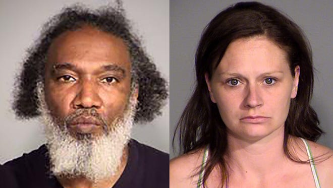 Richard Gammon (left) and Natishia Stephens were arrested Friday, June 24, 2016, on preliminary drug charges, Indianapolis police said.