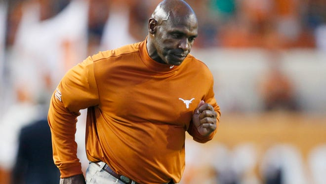 Texas coach Charlie Strong.