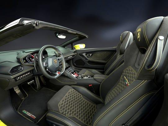 The Lamborghini Huracan Spyder is a rear-wheel-drive