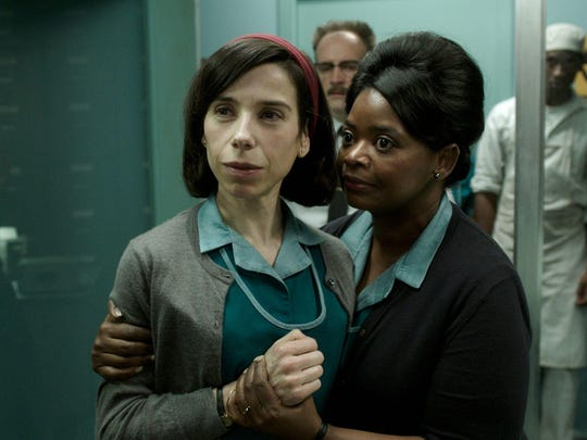 """Sally Hawkins, left, and Octavia Spencer in a scene from the film """"The Shape of Water."""""""