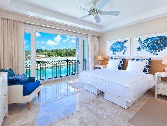 Spacious master bedroom at Port Ferdinand.