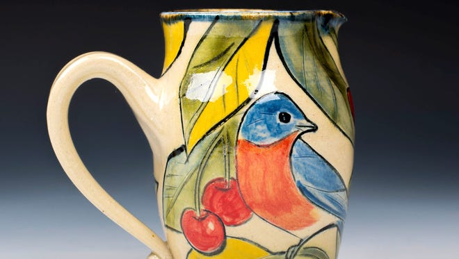 Pitcher by Judy and Thor Thoreson of Gills Rock Stoneware, one of the sites on the Door County Potters' Guild Studio Tour taking place May 5-6.