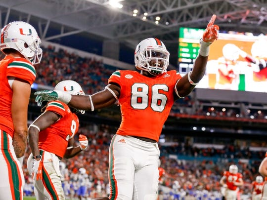 Miami TE David Njoku is the older brother of Wayne