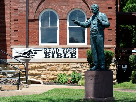 Statue Of Scopes Monkey Trial Evolution Backer Unveiled In East