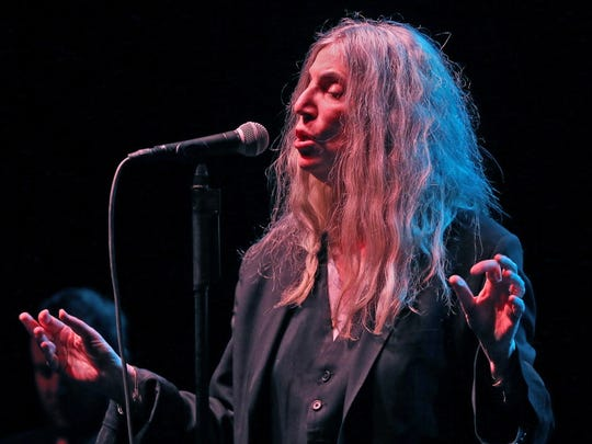 Patti Smith took the stage  to a nearly full house at the Milwaukee Theatre.