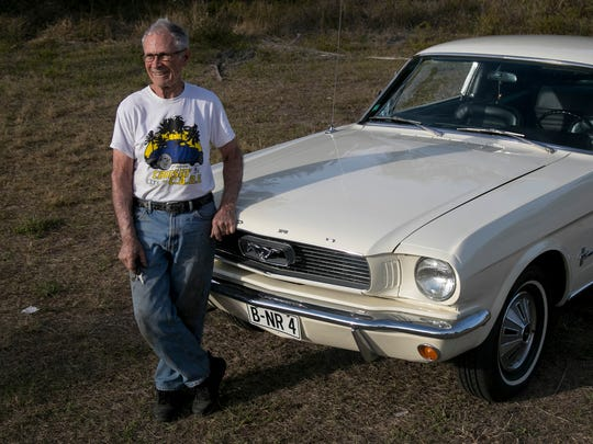 David Beyer, of Fort Myers, is a Mustang collector and historian who owns a 1966 Ford that looks almost exactly like a Mustang. The car fools almost everyone. The T5 was a car Ford created in Germany.