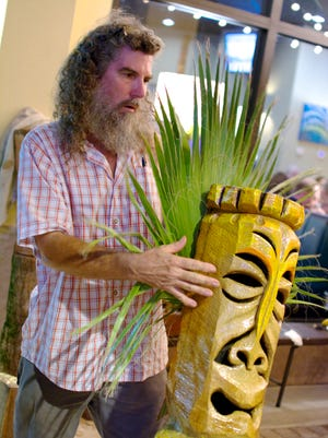 Ed Volonnino of Ed's Heads has been carving tikis on the Space Coast since the late 1970s.