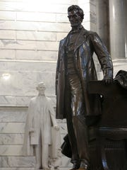 The statue of Abraham Lincoln is placed in the center