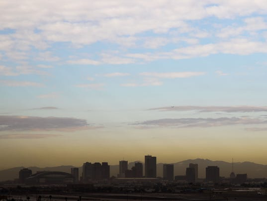 Downtown Phoenix haze