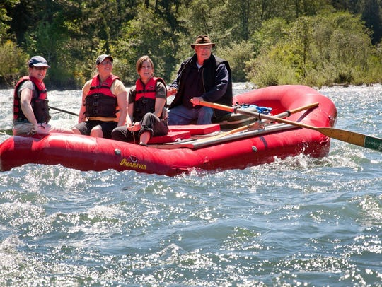 Rafting trips on the North Santiam River.