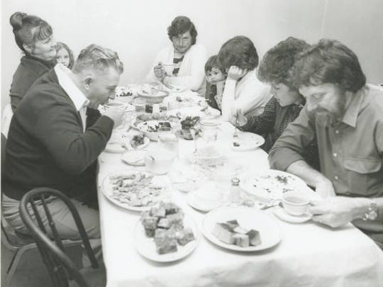 This family, like the Isherwoods of Plover, Wis., gathered round the table where muskrat was the main course. An experience that has stayed with author Justin Isherwood for 65 years.