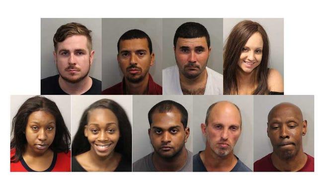 From top left, Stefan Adams, Jose Da Silva, Jucelio Desouza, Lesli Elixson, Courtney Grayson, Caitlyn Hand, Nevin Manimala, Charles Packlowski, Timothy Robinson.