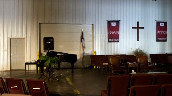 Fairview Baptist Church has set up a temporary home