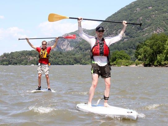 From left, Hudson River Expeditions instructor Edmund