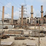 The old LG&E and KU Energy coal-fired coal generating plant at Cane Run Rd. July 6, 2015