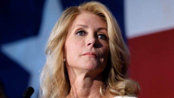 Texas Democratic gubernatorial candidate Wendy Davis speaks in San Antonio on Aug. 26.
