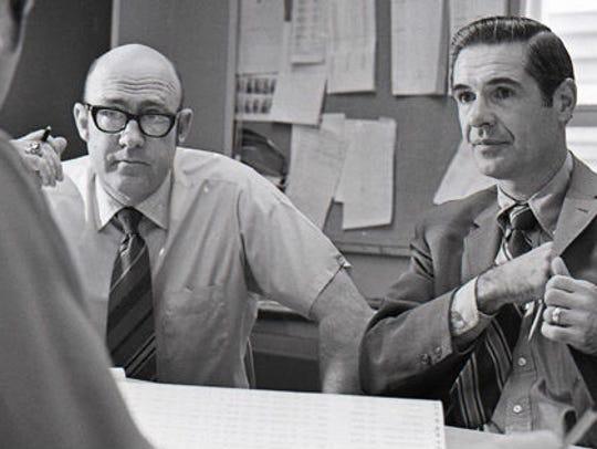 Green Bay Packers personnel director Pat Peppler, left,