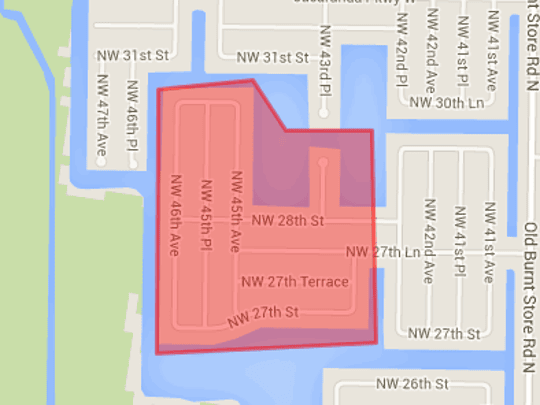 Map of perimeter for suspicious package