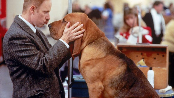 "Christopher Guest with Hubie in ""Best in Show."""