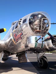 """The B-17 """"Sentimental Journey"""" will be making a special"""
