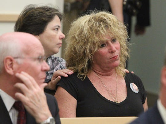 Susanne Nadell-Scaccio attends the sentencing of the murderers of her Mother, Peggy Nadell, at the Rockland County Courthouse in New City May 12, 2015.