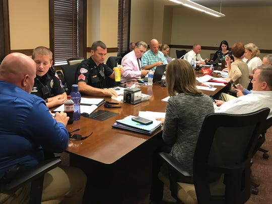 San Angelo police and city representatives met for