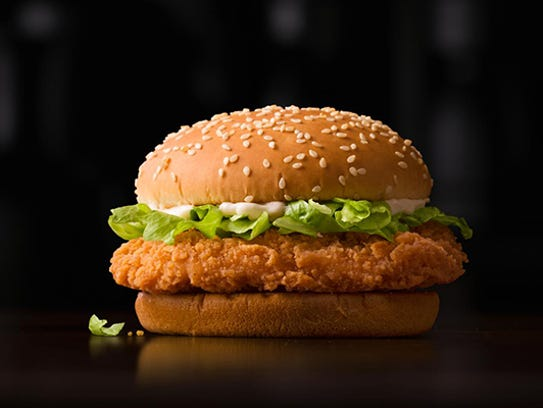 The McSpicy Chicken Sandwich from Hong Kong.