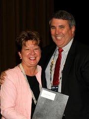 David Hoke, right, and Deborah Varallo