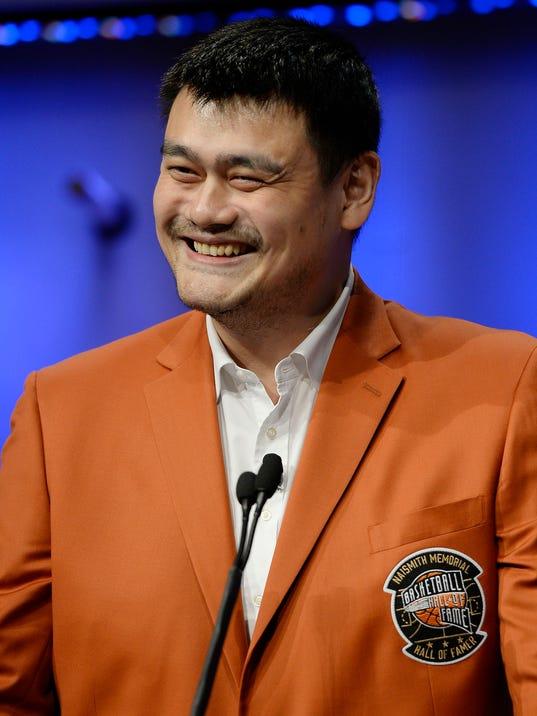 Yao Ming enters Hall of Fame as global ambassador of ...