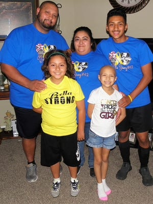 The Ochoa family from left: Luis, Diego, Delia, Bella and Jesus. Bella begins cancer treatment in Arizona in a few weeks.