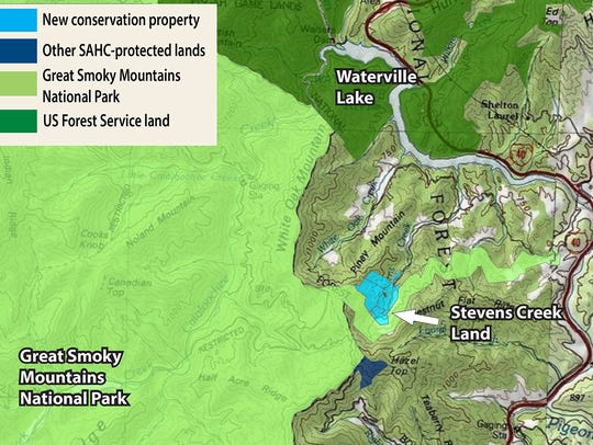 The newly conserved Stevens Creek property is surrounded